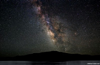 Milky Way over the Blue Mesa Lake