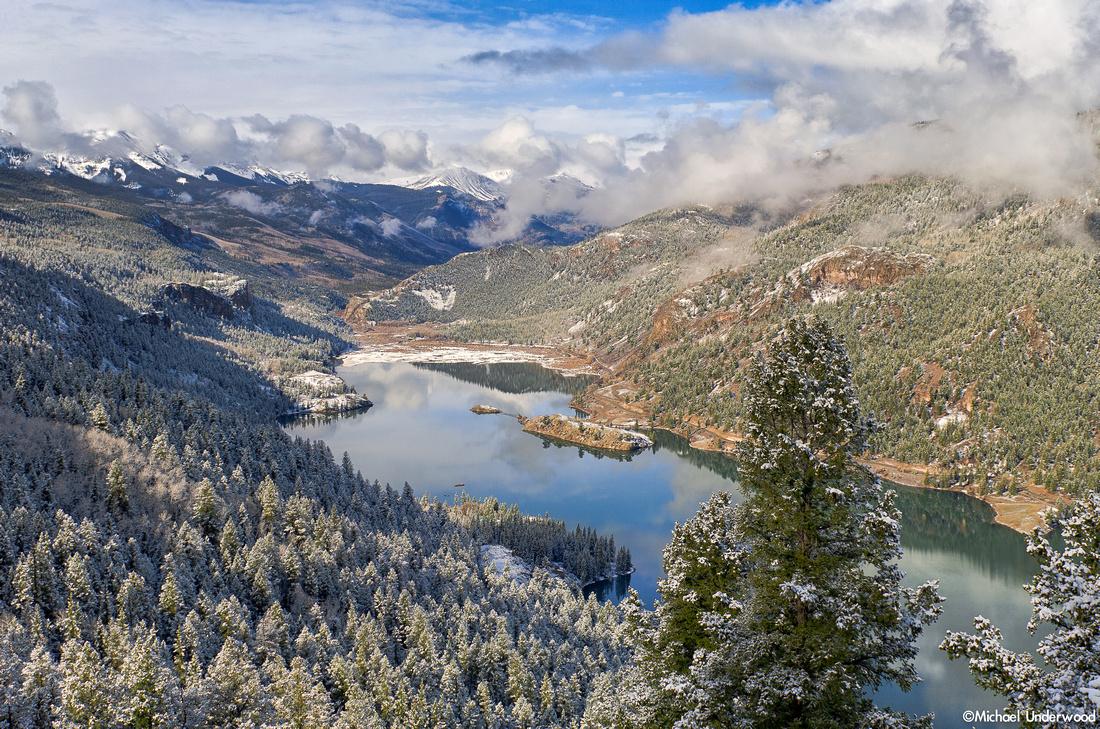 May Snow and Lake San Cristobal