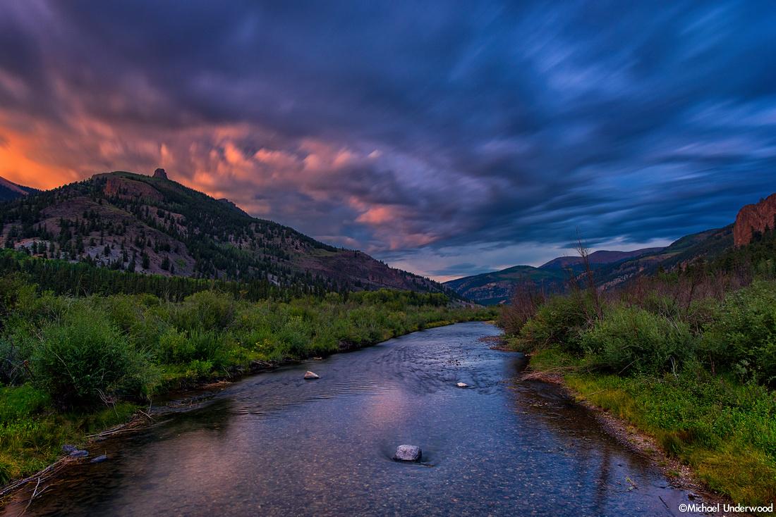 Twilight on the Lake Fork River