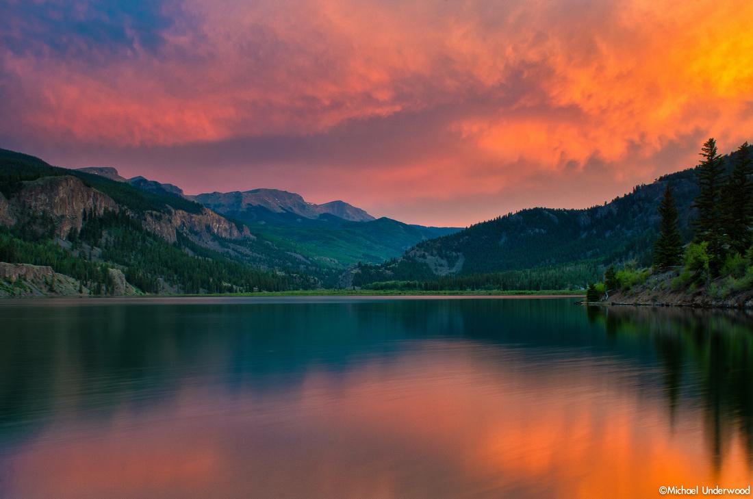 Lake San Cristobal Sunset