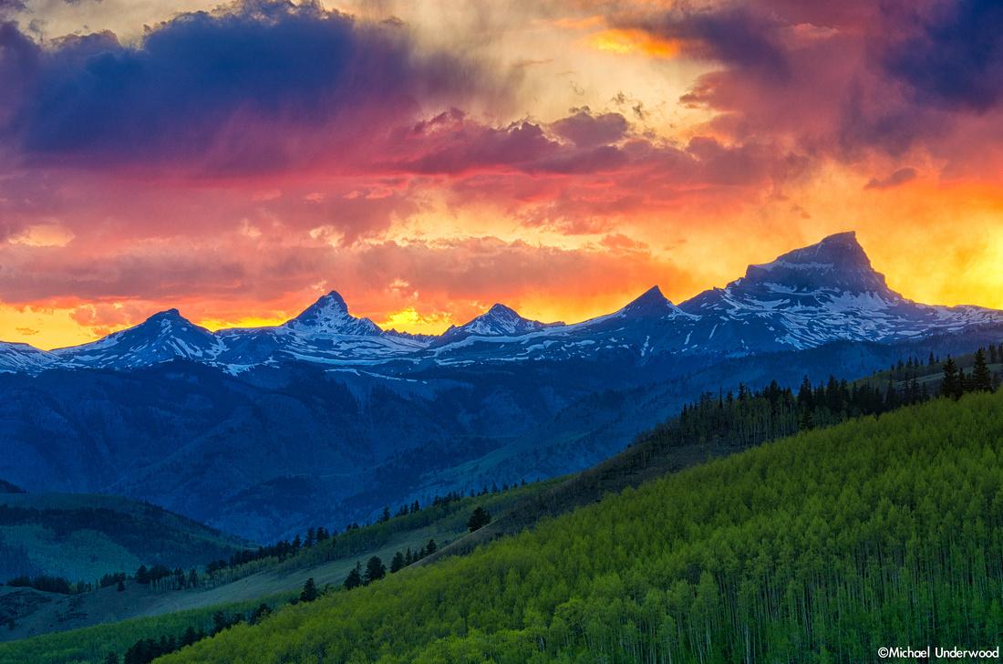 Uncompahgre, Wetterhorn, and Matterhorn Sunset
