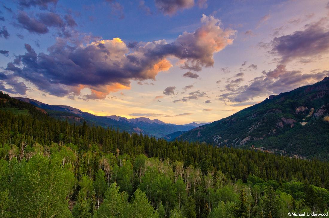 Summer sunset up on Slumgullion Pass