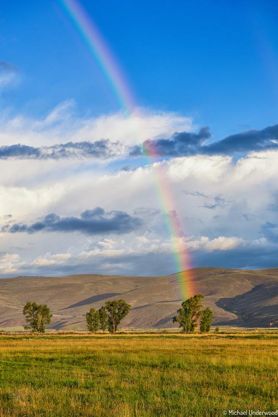 Morning Rainbow in Gunnison.