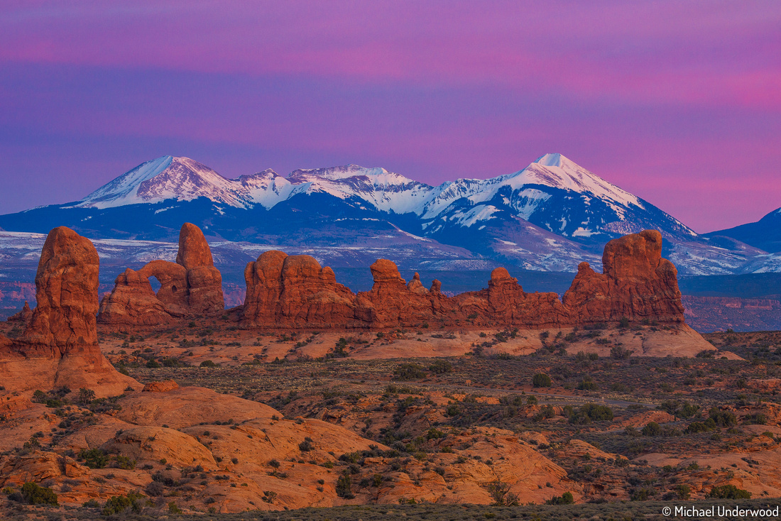Twilight in Arches