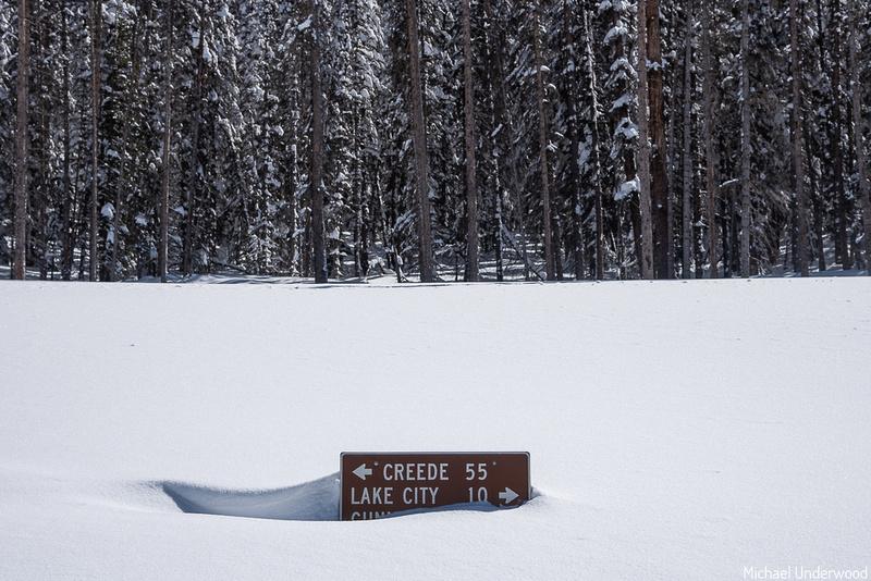 Snow on Slumgullion Pass