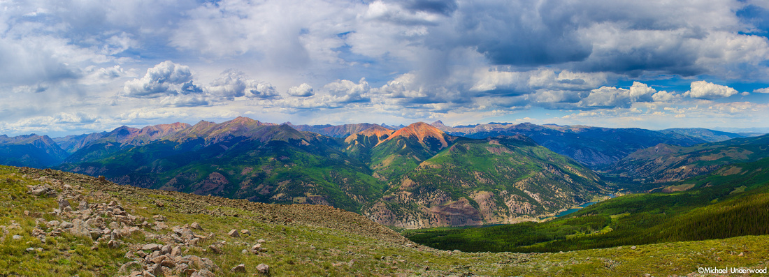 Panorama of the San Juan Mountains