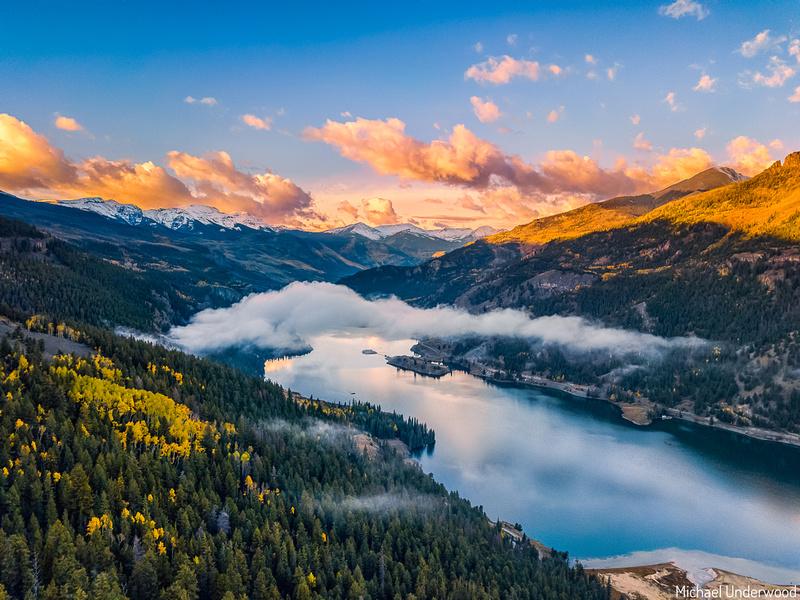 Sunrise High Above Lake San Cristobal