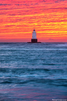 Sakonnet Light Sunset - Portrait