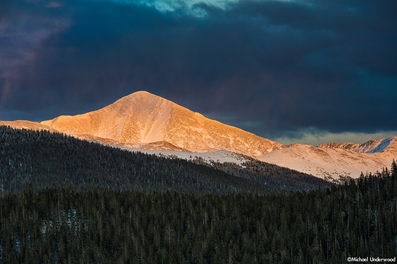 Alpenglow on Monarch Pass